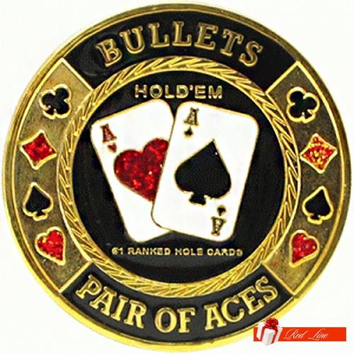 """ХРАНИТЕЛЬ КАРТ """"CARDGUARD BULLETS PAIR OF ACES"""""""