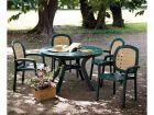 Комплект мебели (Тоскано 1.0м+ 4 кр. систина) зеленый