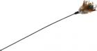 Игрушка-дразнилка для кота с пером и колокольчиком